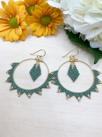 Spiked Hoops with Center Drop