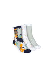 Colour Socks Mid 3 Pack