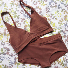 Load image into Gallery viewer, Women's Organic Cotton Bralette - Chestnut