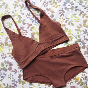 Women's Organic Cotton Bralette - Chestnut