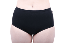 Load image into Gallery viewer, Etiko Full Brief Undies Black Front