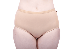 Etiko Full Brief Undies Tan Front