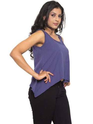 Tuuda Flared Tank Top Navy