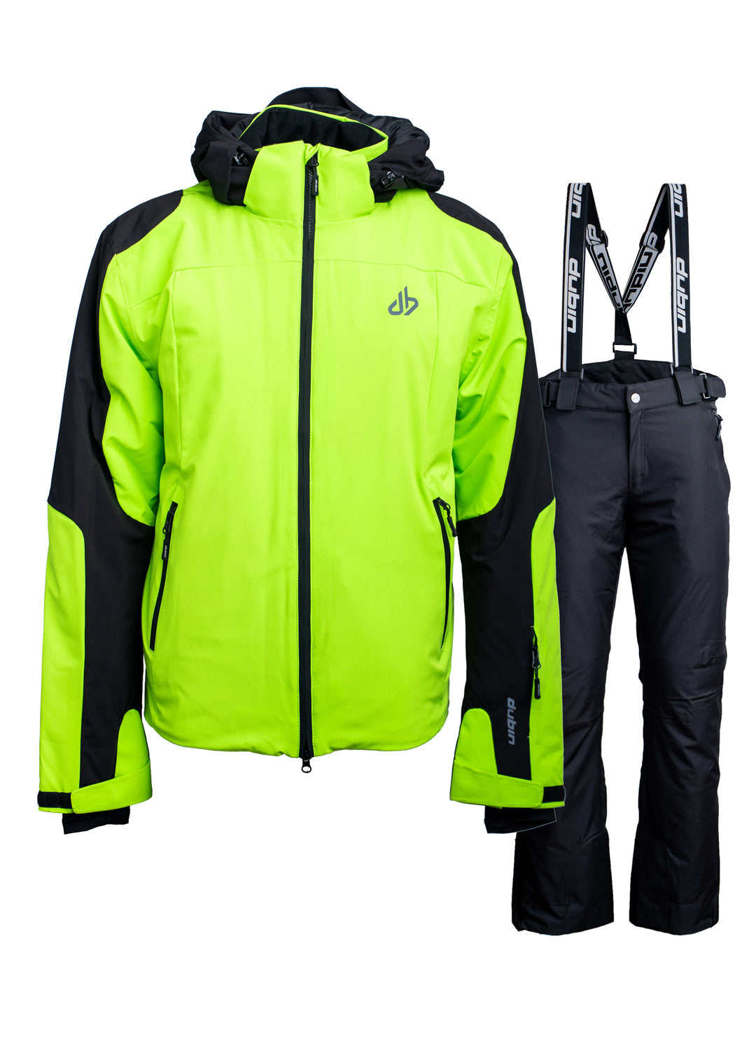SET SCI ZERMATT 10K 3M THINSULATE - LIME/BLACK