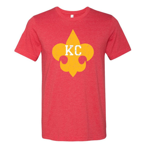Boy Scouts of America | Red And Yellow KC Fleur De Lis