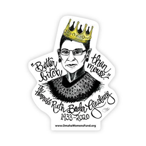 Women's Fund Of Omaha | RBG Sticker