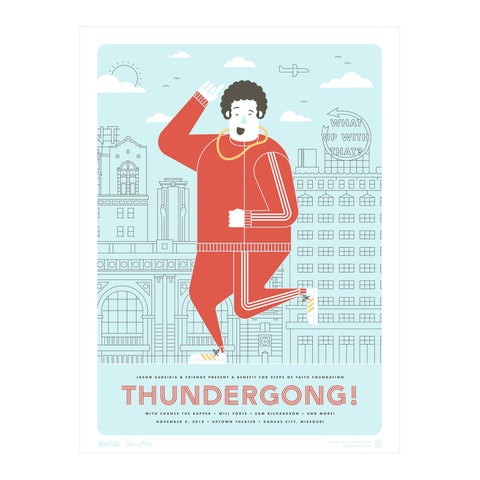 Thundergong! Screen printed poster