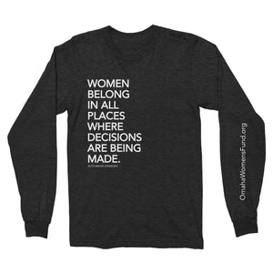 Women's Fund Of Omaha | Women Belong Long Sleeve Shirt