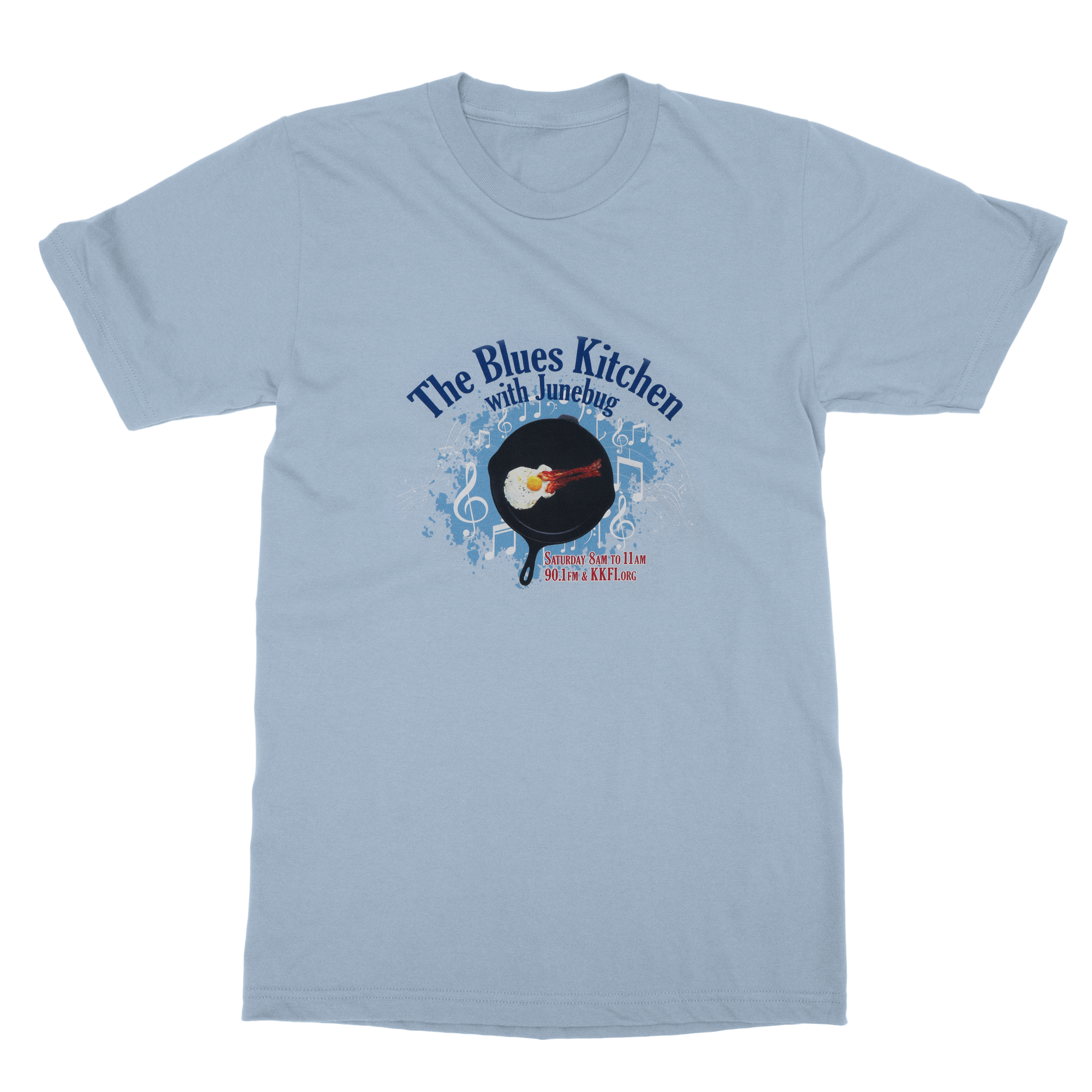 KKFI | Blues Kitchen 20th Anniversary T-Shirt - Light Blue