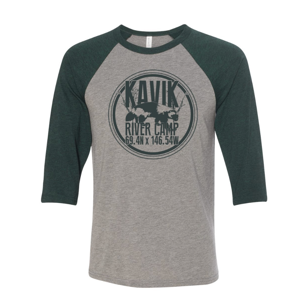 Kavik River Camp | Logo Raglan - Emerald Triblend