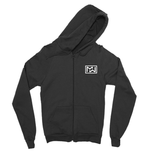 More Weight | Eagle Zip-Up Hoodie | Black