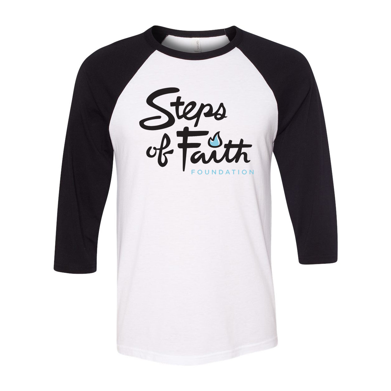 TG! Steps of Faith - Black & White Raglan