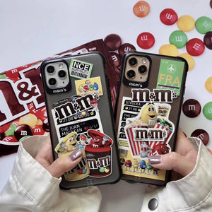 New Matte Anti-fall Chocolate M Beans Soft Silicon phone Case for iphone 11