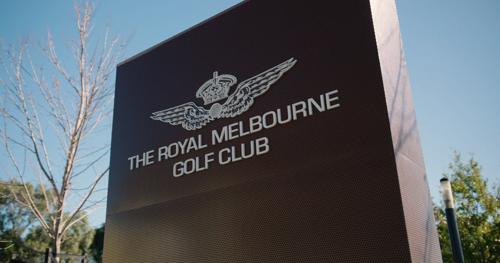 melbourne golf club sign