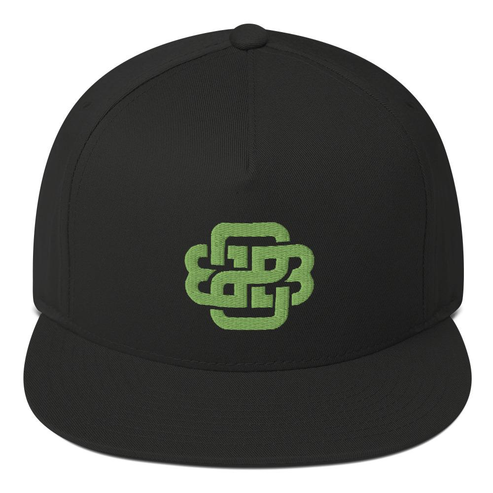 """Celtic Knot"" Kiwi Flat Bill Cap - Back 2 Basics Golf"