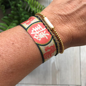 Satin Chinese Zodiac Wristband