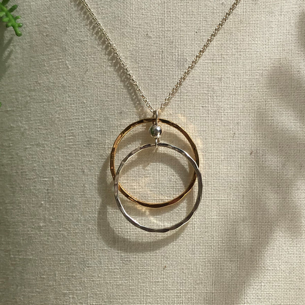 Dorothy Long Double Ring Pendant