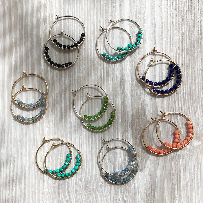 Eden Beaded Hoops