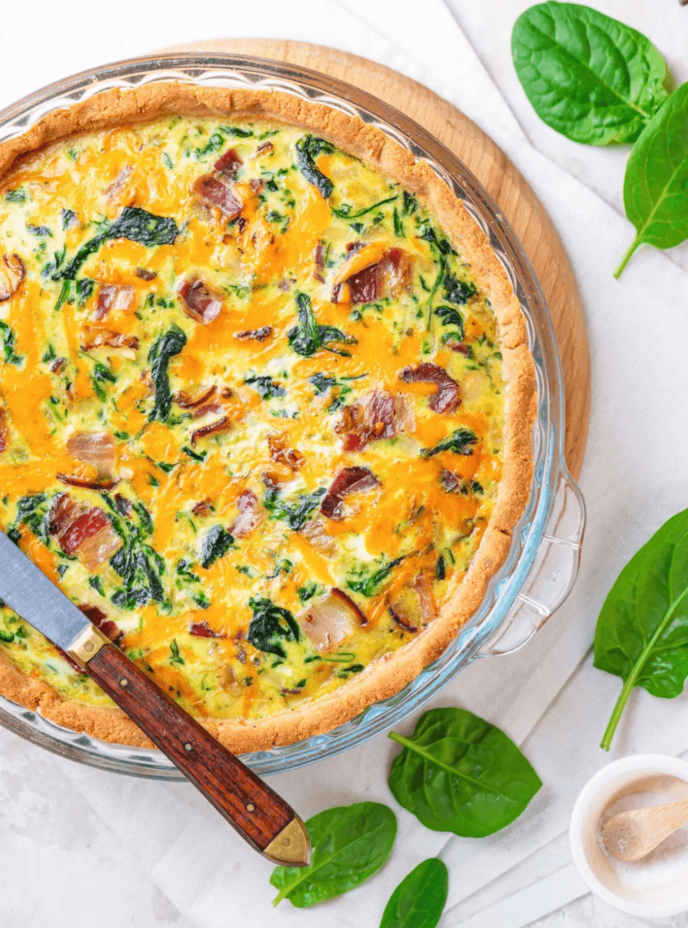 Keto Spinach Quiche