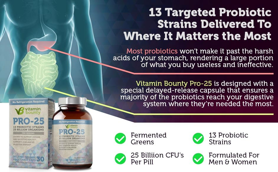 13 Targeted Probiotic Strains Delivered To Where It Matters the Most