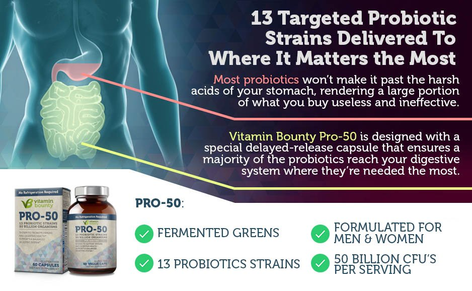 13 Targeted Probiotic Strains Delivered To Where It Matters Most