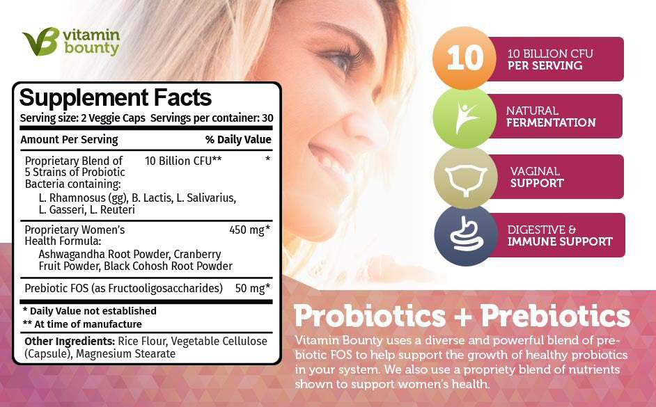 Contains Probiotics and Prebiotics