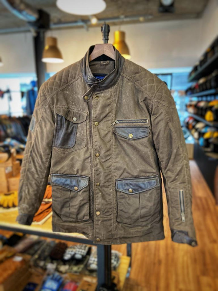 Age of Glory Mission Waxed Cotton Jacket Brown