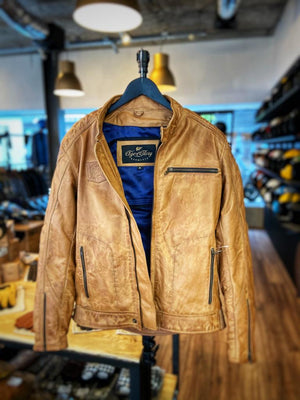 Age of Glory  Rogue Leather Jacket Camel