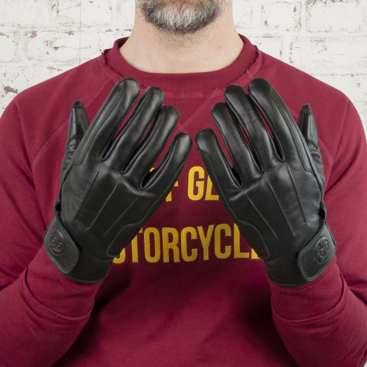Age of Glory Rover Leather CE Gloves Black