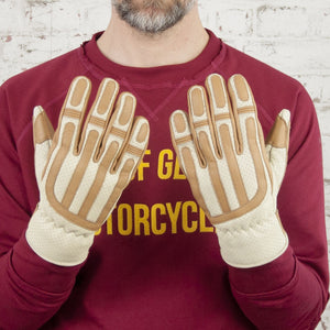 Age of Glory Victory Leather CE Gloves Cream / Camel