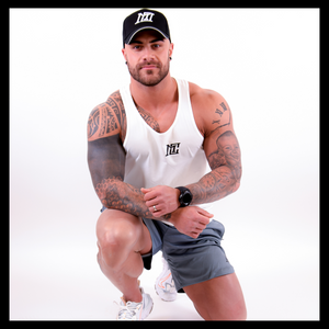 Mens - Motivational clothing white tank top - Motivational Clothing Ltd