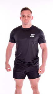 Motivational Clothing |  Mens Black Performance | Gym Top - Motivational Clothing Ltd