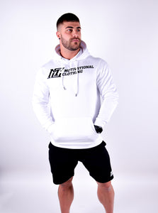Mens -Motivational Clothing White Hoodie - Motivational Clothing Ltd