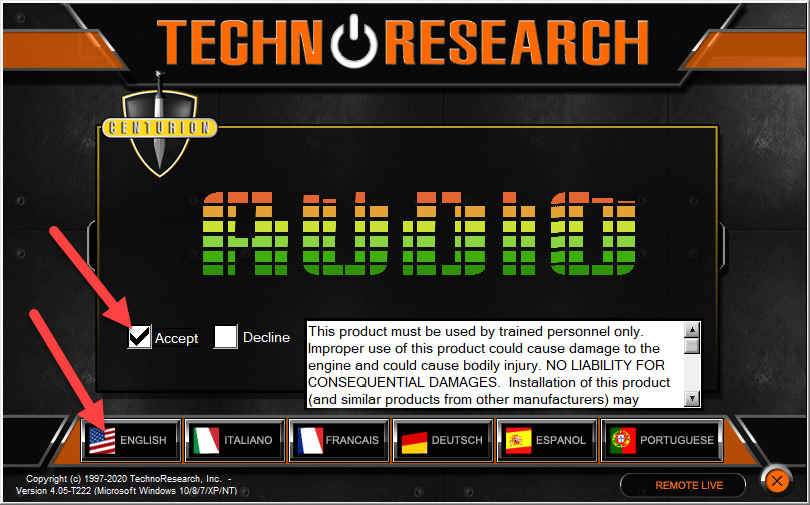 Technoresearch Language and Country Harley Radio Flash