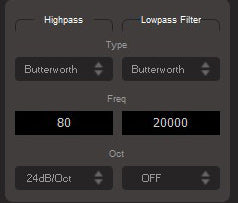 MUSWAY Crossover settings