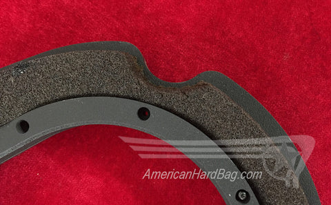 Trim around saddlebag fastener points