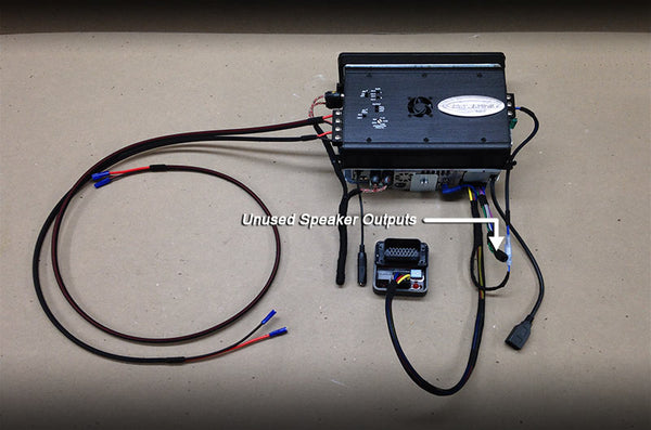 installation instructions for plug play radio amplifier and connect the pre wired remote turn on wire this wire runs from the radio to the amplifier and supplies a 12 volt signal that tells the amplifier to turn on