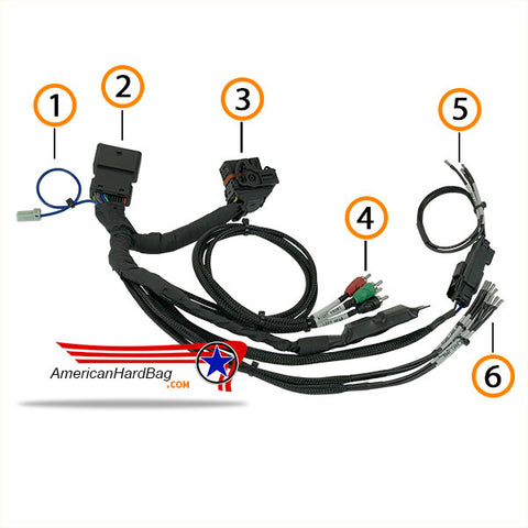 AHB-T Harley Radio T Harness for Amplifiers