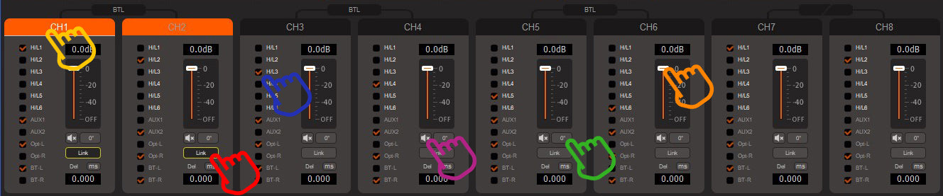 MUSWAY DSP Channels