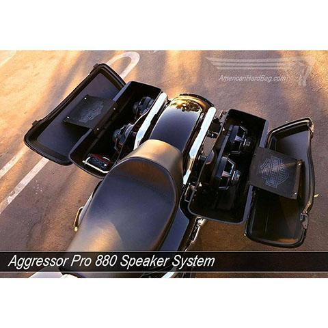 "Aggressor Pro 880 Twin 8"" Full Range Woofer Mount for Harley Davidson Baggers"