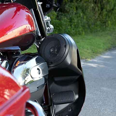 Speaker Pods for Harley Liquid Cooled Lowers (Satin Black) with Grill
