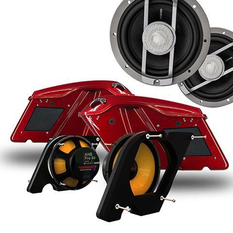 Harley Saddlebag 8 Inch Diamond Audio Dual Woofer Kit Part# HXMPro80