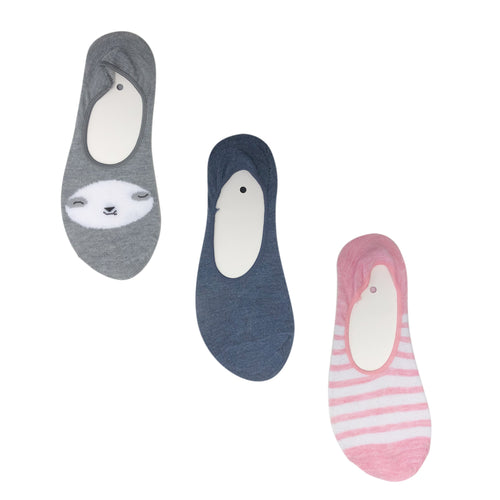 Ladies 3pk Secret Socks