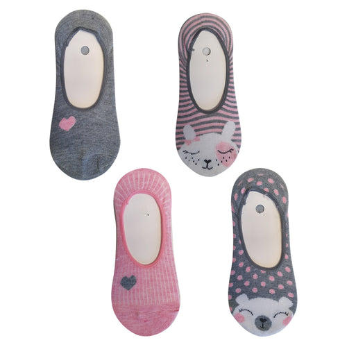 Ladies 4pk Secret Socks