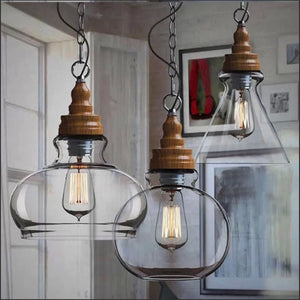 Hanging Glass Pendant Lights