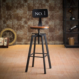 Vintage Iron Bar Stool