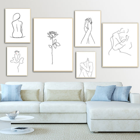 Abstract Lady Canvas Wall Art