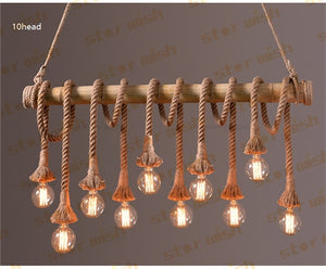 Rope Bamboo Pendant Lights