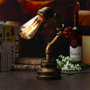 Distressed Pipe Table Lamp
