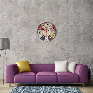 Retro Wooden Wall Clock